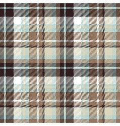 Brown blue seamless check fabric texture vector