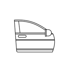 Car door icon outline style vector