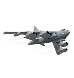 Cartoon Military Airplane vector image vector image