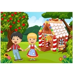 Classic children story Hansel and Gretel vector image vector image