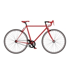 Classic town road singlespeed bicycle detailed vector