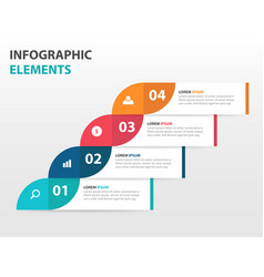 colorful label business timeline infographics vector image