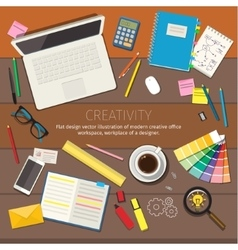Concepts of creativity vector image vector image