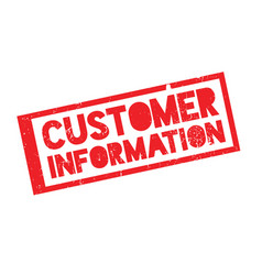 Customer information rubber stamp vector
