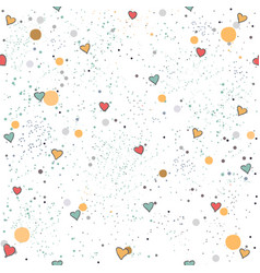 cute seamless pattern with red berries and dotted vector image vector image