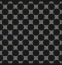 dark geometric ornamental grid seamless pattern vector image vector image