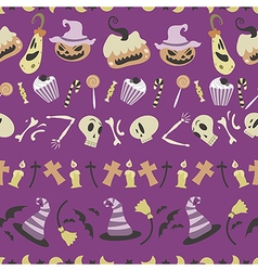 Halloween pattern 01 vector image