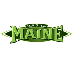 Maine the pine tree state vector