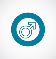 Male symbol icon bold blue circle border vector