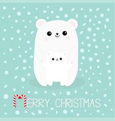 merry christmas candy cane polar white small vector image vector image