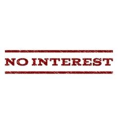 No interest watermark stamp vector