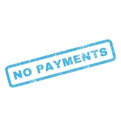 No Payments Rubber Stamp vector image vector image