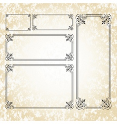 ornate frame set vector image vector image