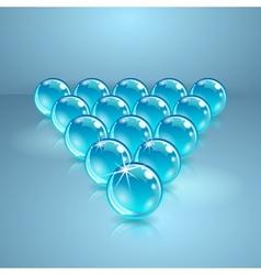 Pool or billiard balls made of glass vector image