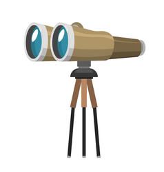 professional camera lens binocular glass look-see vector image vector image