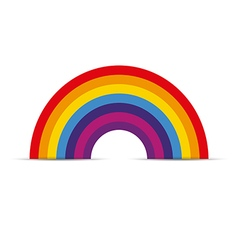 Rainbow icon flat vector image vector image