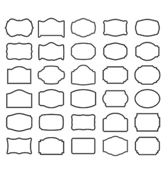 Thirty blank labels vector image vector image