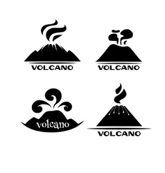 Volcano set logotypes and signs vector