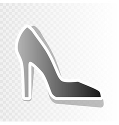 woman shoe sign new year blackish icon on vector image vector image