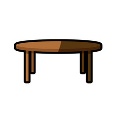 Wooden table furniture decoration shadow vector