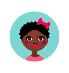Female face avatar profile head vector