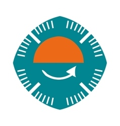 Pressure gauge isolated icon vector
