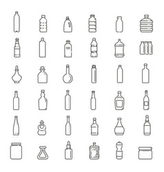 bottle packaging collection - vector image