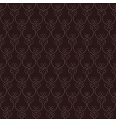 Seamless brown wallpaper pattern vector