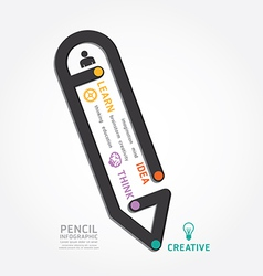 Infographics pencil design diagram line vector