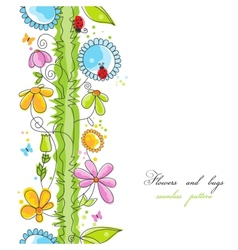 Cute floral borders vector image