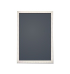 Blank retro photo frame vector