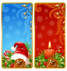 Christmas vertical banners set vector