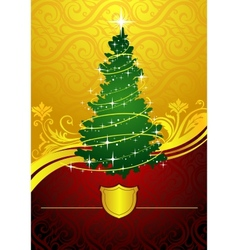 Classic Christmas tree vector image