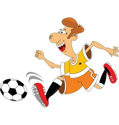Cartoon sports player vector image