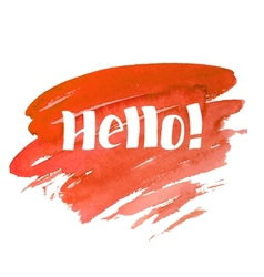Hello - hand drawn lettering vector