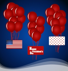 Happy presidents day presidents day banner design vector