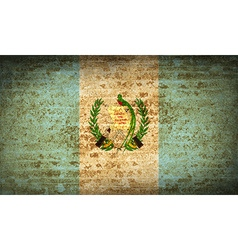 Flags guatemala with dirty paper texture vector