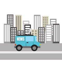 News breaking vector