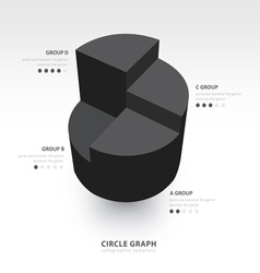 Business infographics circle graph black color vector