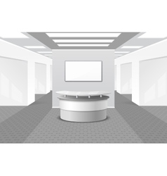 Lobby or reception interior vector