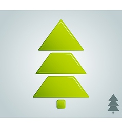 Green christmas tree empty blank vector