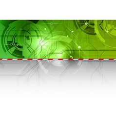 Tech background in the green color vector