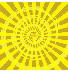 Abstract burst ray background yellow vector