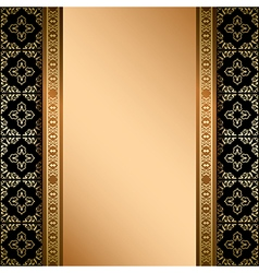Black and gold ornament on background gradient vector