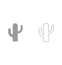cactus it is black icon vector image