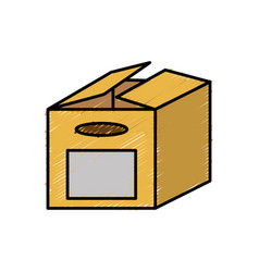 Carton box design vector