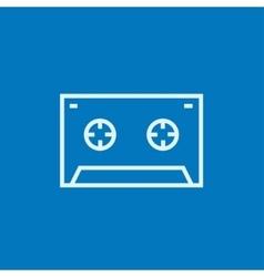 Cassette tape line icon vector image vector image