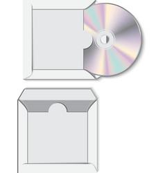 CD disk with paper case vector image