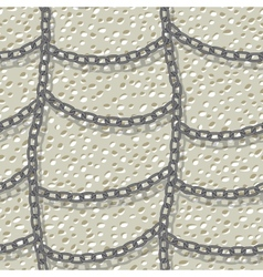 chain seamless background vector image vector image