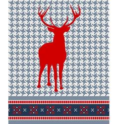Christmas reindeer seamless pattern vector